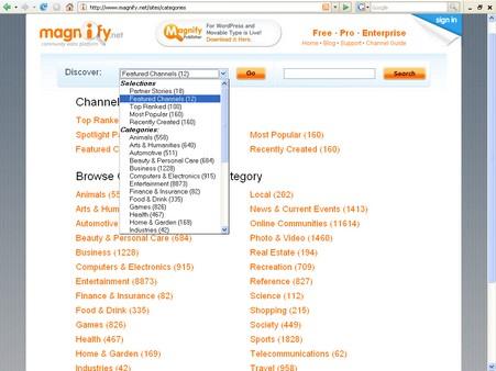 Magnify-recherche